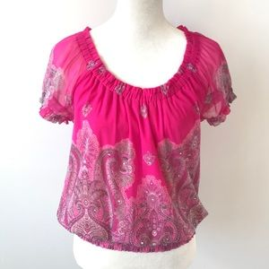 Fuchsia Pink Sequin Top